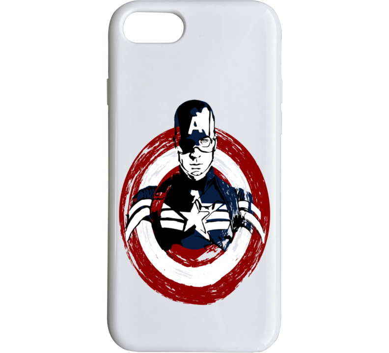 Captain America Distressed Effect Shield Marvel Heros Justice League Phone Case