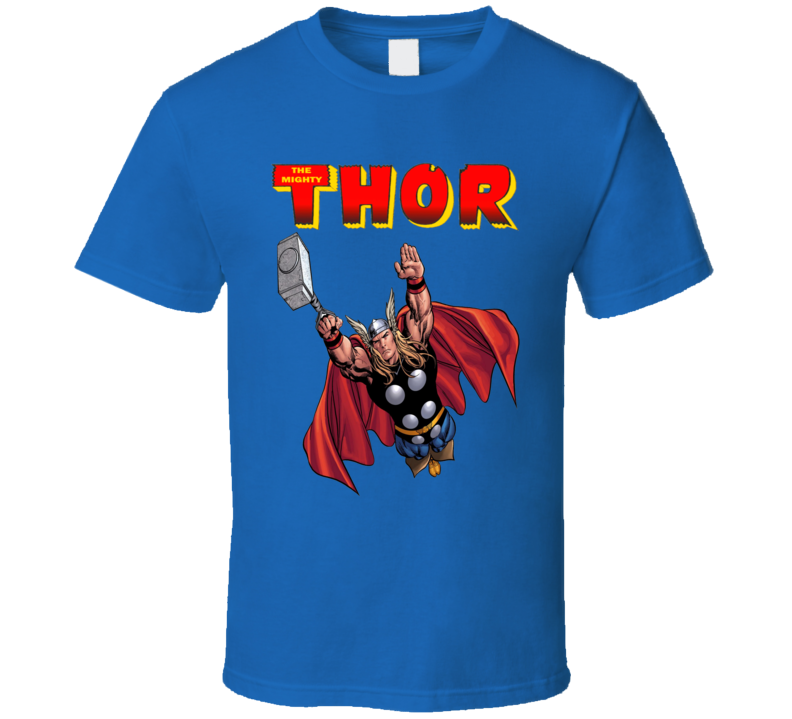 The Mighty Thor Classic Comic Book Style Avengers T Shirt