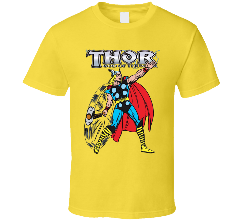 Thor God Of Thunder Comic Book Style Graphic Avengers T Shirt