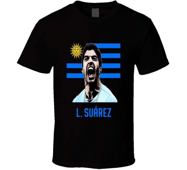 2018 World Cup Soccer L Suarez Uruguay Russia Fifa Comic Effect T Shirt