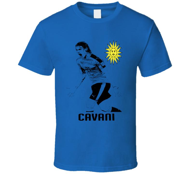 2018 Russia World Cup Edison Cavani Uruguay Paris Soccer T Shirt