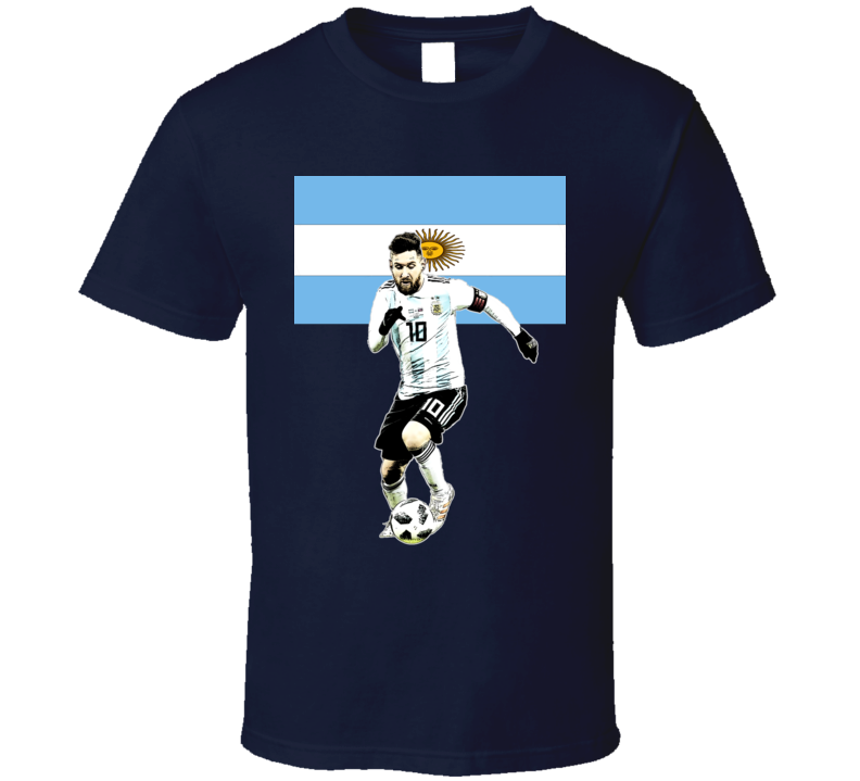 World Cup 2018 Russia Lionel Messi Argentina Barcelona Camiseta T Shirt