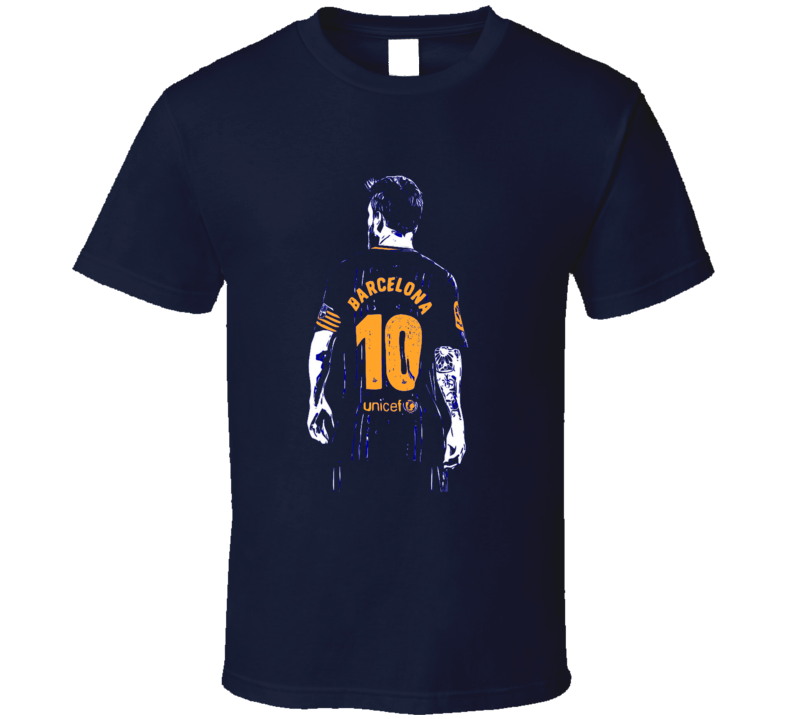 Lionel Messi Barcelona Fan Jersey Argentina T Shirt