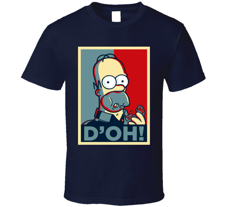 Homer Simpson D'Oh Hope Style Funny Simpsons Fan T Shirt