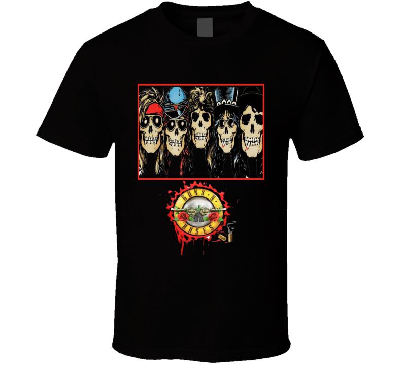Guns and Roses GNR Classic Rock Slash Axle Biker Stripper T Shirt
