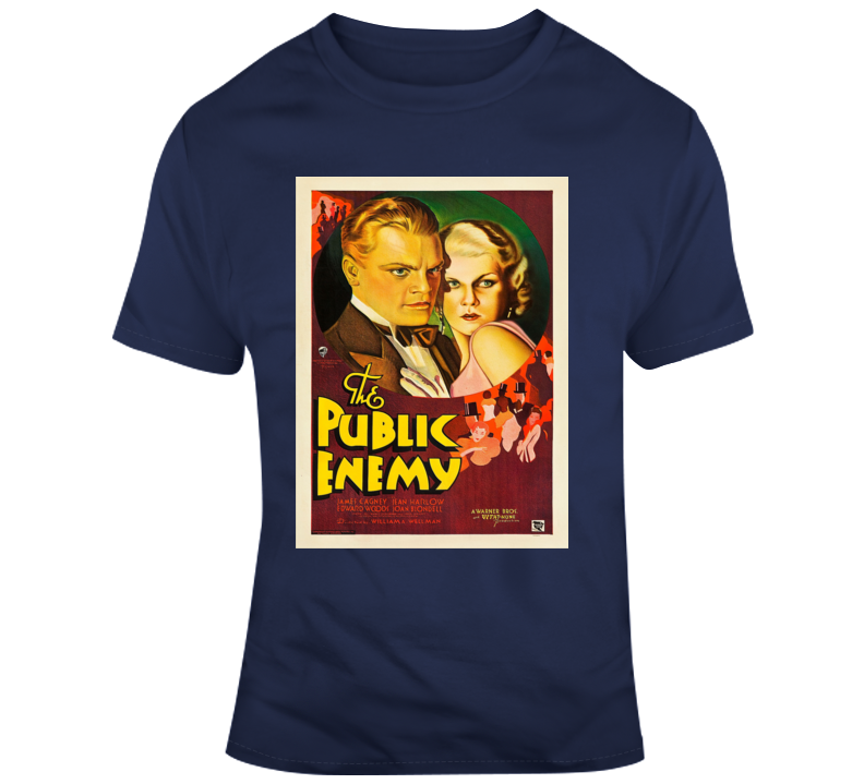 The Public Enemy Cagney Harlow 1931 Movie T Shirt