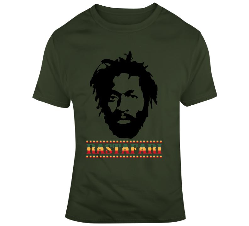Rastafari Reggae Jamaica Africa Ganga Weed 420 Vacation T Shirt