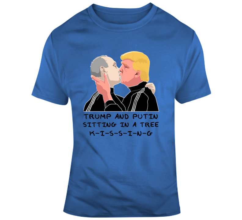 Donald Trump and Vladimir Putin Kissing Children's Rhyme Parody  T Shirt