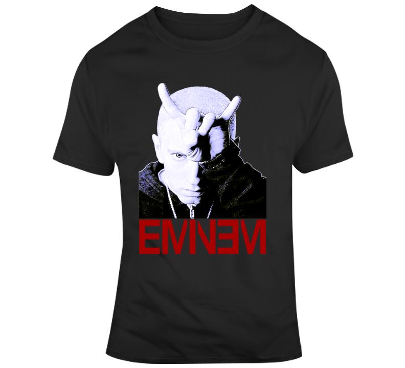 Detroit Rapper Horns With Logo 8 Mile T Shirt