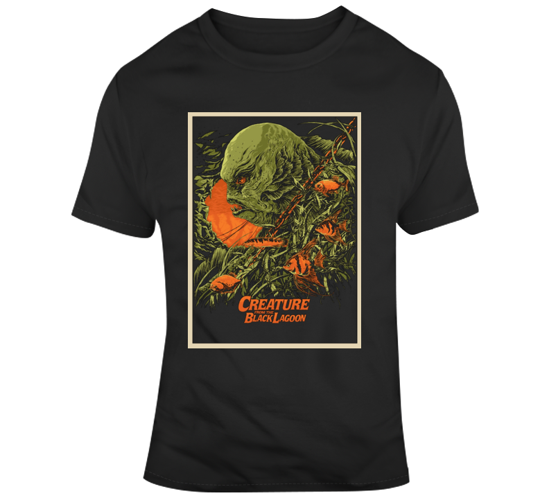 Creature From The Black Lagoon Retro Horror Film Poster Style Monsters Drive In T Shirt