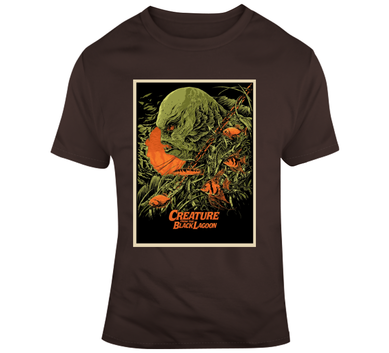 Creature From The Black Lagoon Retro Horror Film Poster Style Monsters Drive In 2 T Shirt