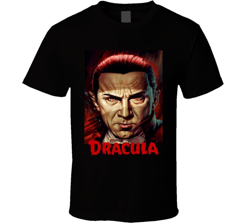 Dracula retro movie poster Bela Lugosi classic vampire movie T Shirt