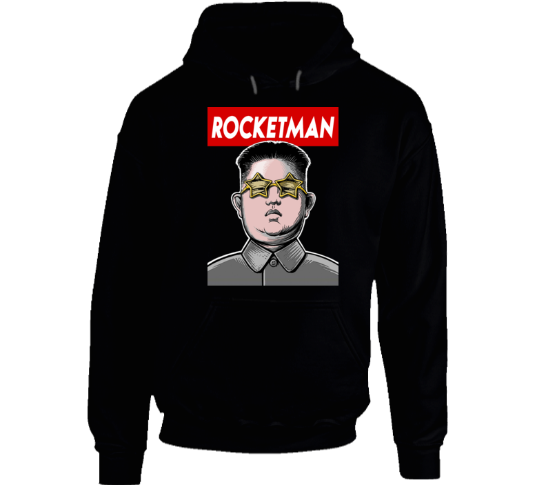 Kim Jong Un Rocketman North Korean Leader Trump Tweet Hoodie