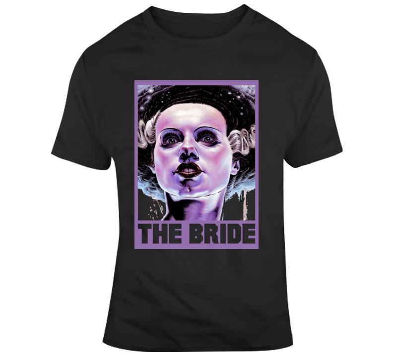 The Bride Of Frankenstein Classic Horror Film Fan T Shirt