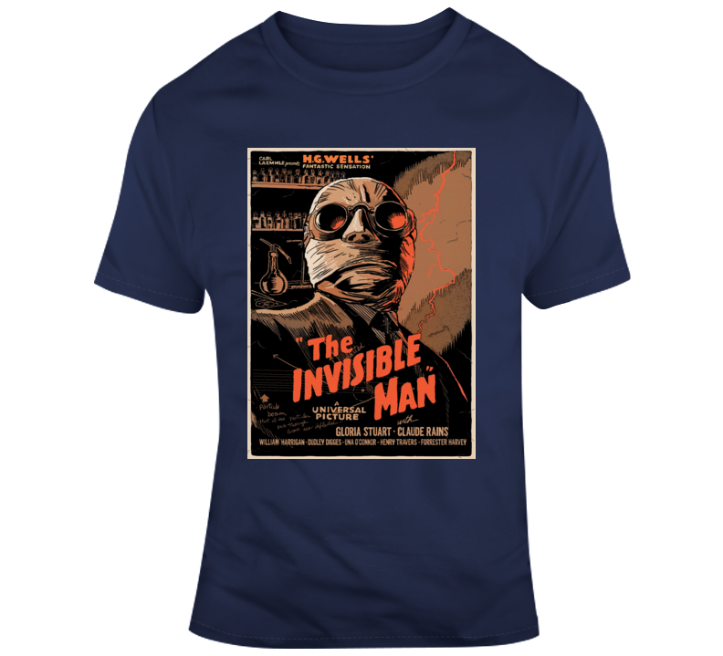 The Invisible Man Classic Horror Film Lobby Poster Style Claude Rains T Shirt