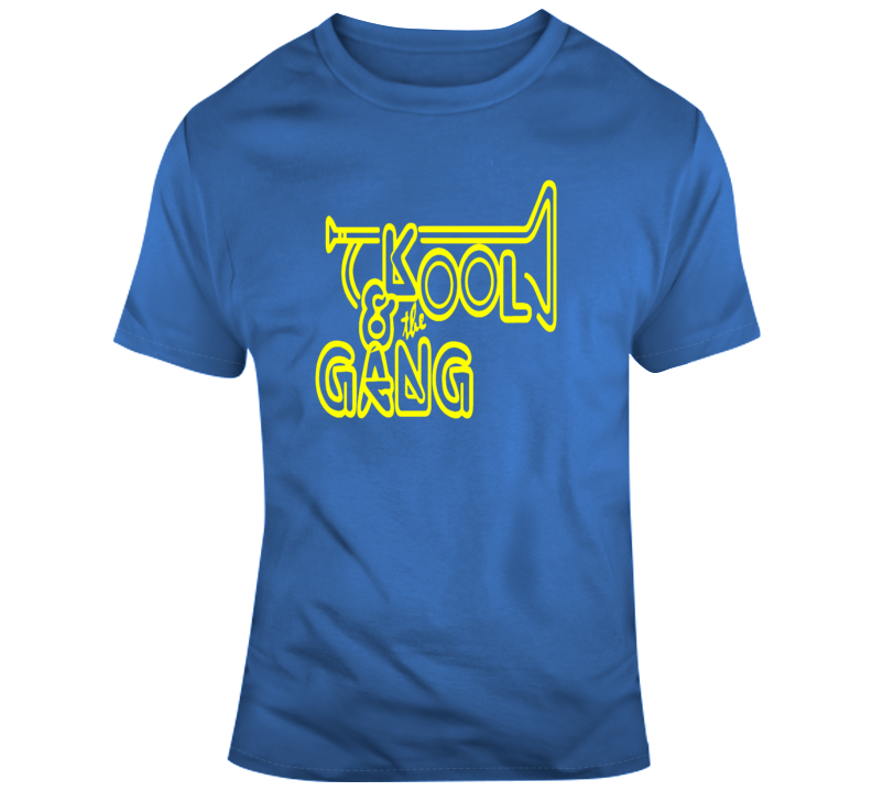 Kool and the Gang Funk Disco R&B 70s 80s Dance Yellow T Shirt