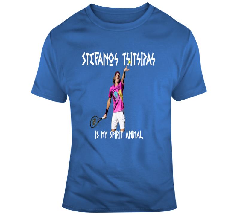 Stefanos Tsitsipas Is My Spirit Animal Rogers Cup Tennis Greece T Shirt