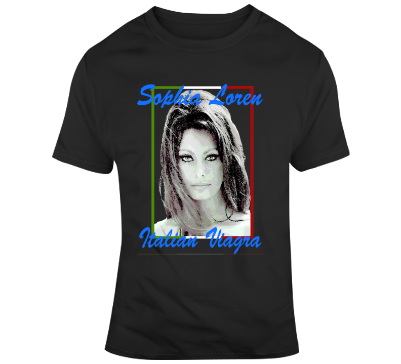 Sophia Loren Sexy Italian Movie Star T Shirt