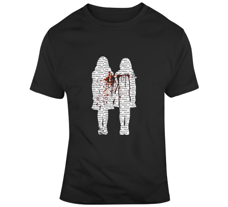 The Shining Twins Come Play With Us Forever Classic Horror Film T Shirt