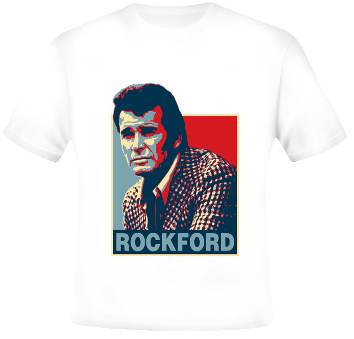 James Garner Rockford TV detective firebird yellow pages ad cool retro tv show t-shirt