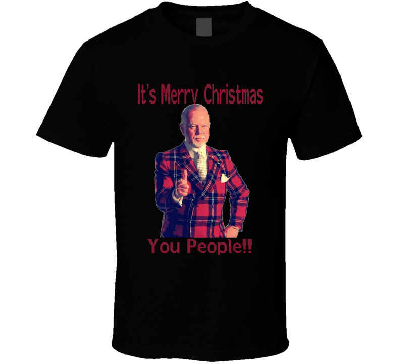 Don Cherry Merry Christmas You People Not Pc Funny Ugly Sweater Style T Shirt