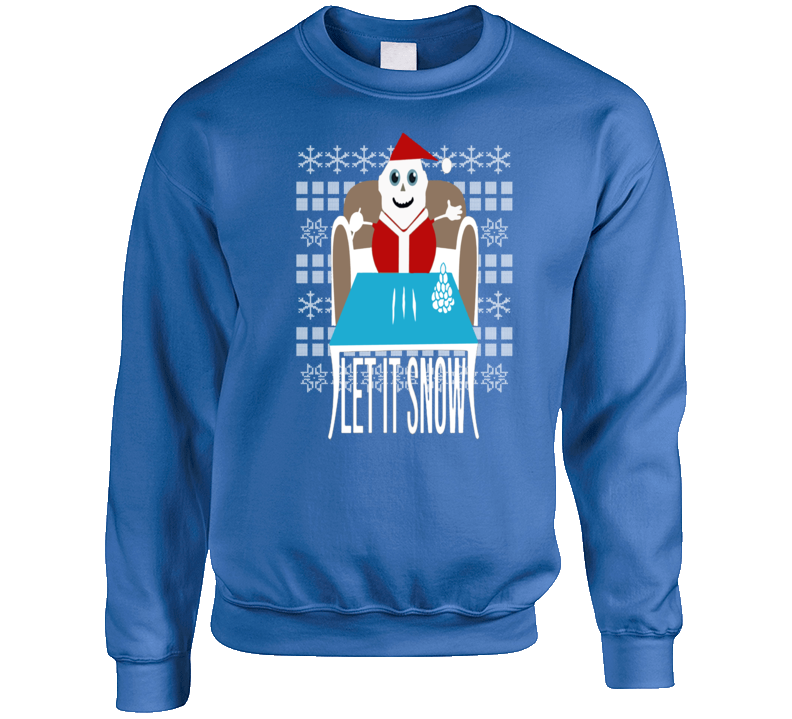 Ugly Christmas Sweater Let It Snow Removed Banned Wamart Funny Crewneck Sweatshirt
