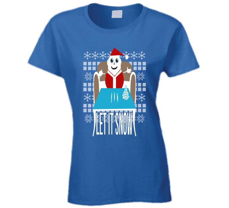 Ugly Christmas Sweater Let It Snow Removed Banned Wamart Funny Ladies T Shirt