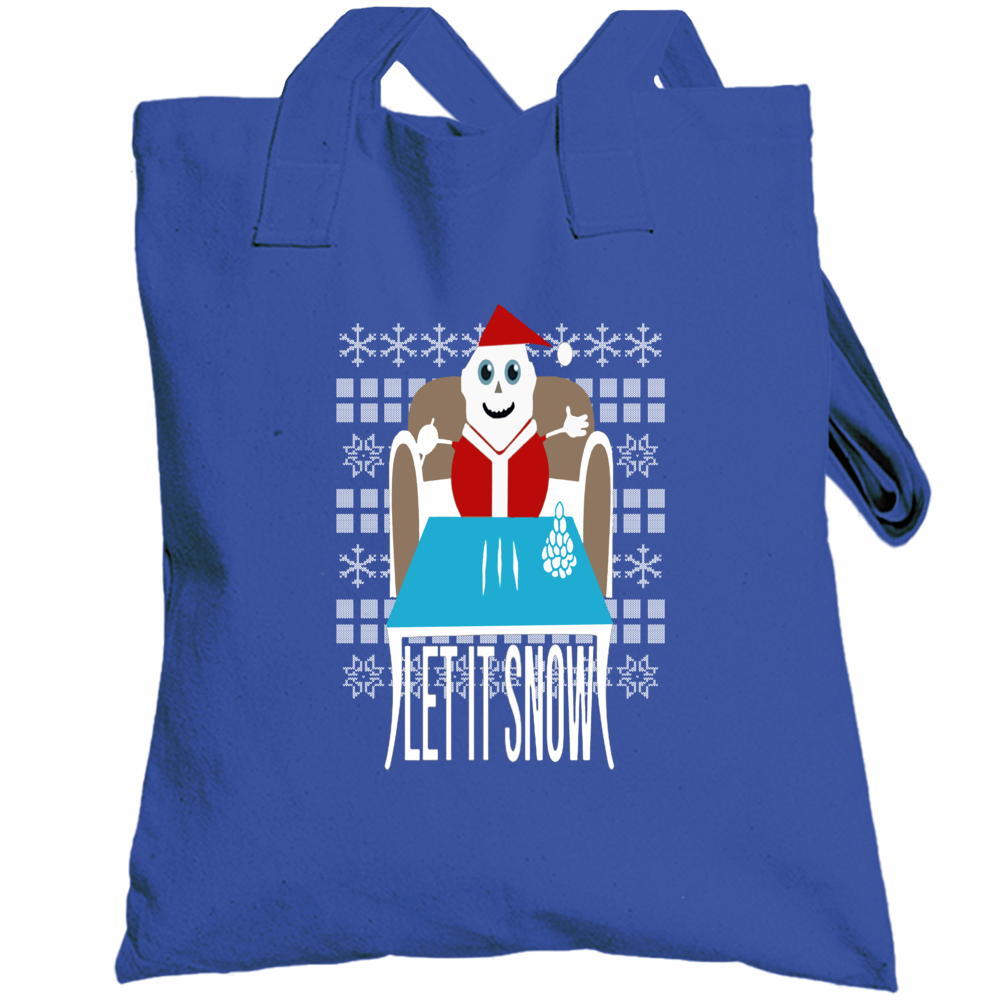 Ugly Christmas Sweater Let It Snow Removed Banned Wamart Funny Totebag