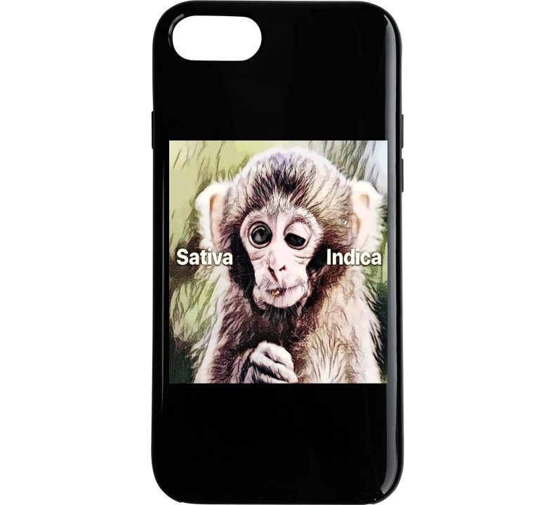 Stoner Weed Marijuana Stoned Monkey Satvia Indica Funny Phone Case