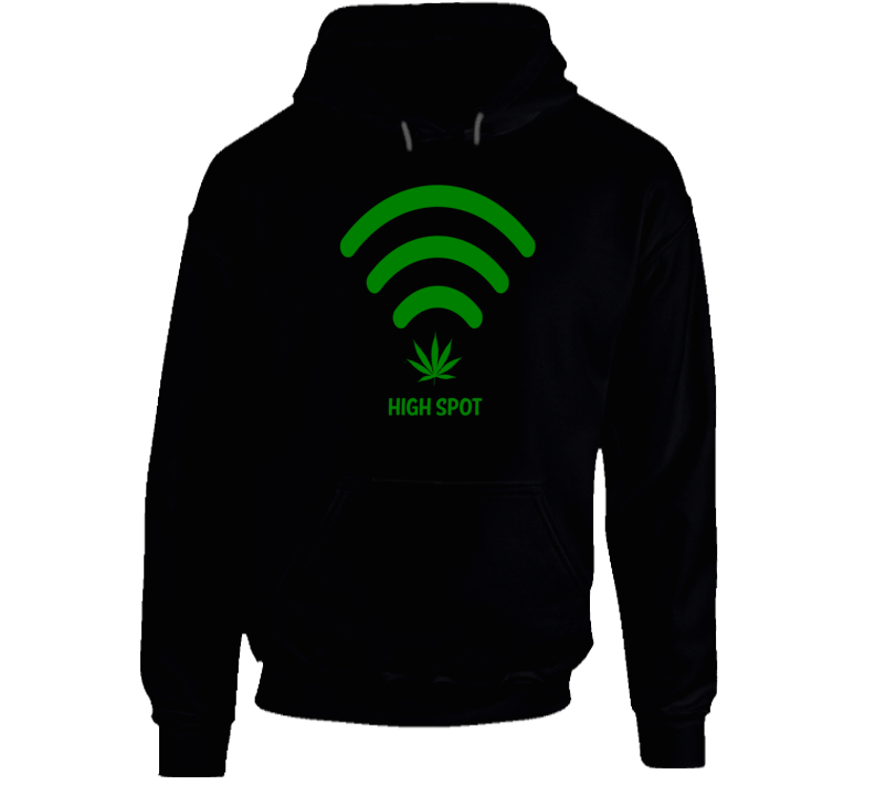 High Spot Wifi Cannabis Stoner Hot Spot Weed Smokers Funny Hoodie