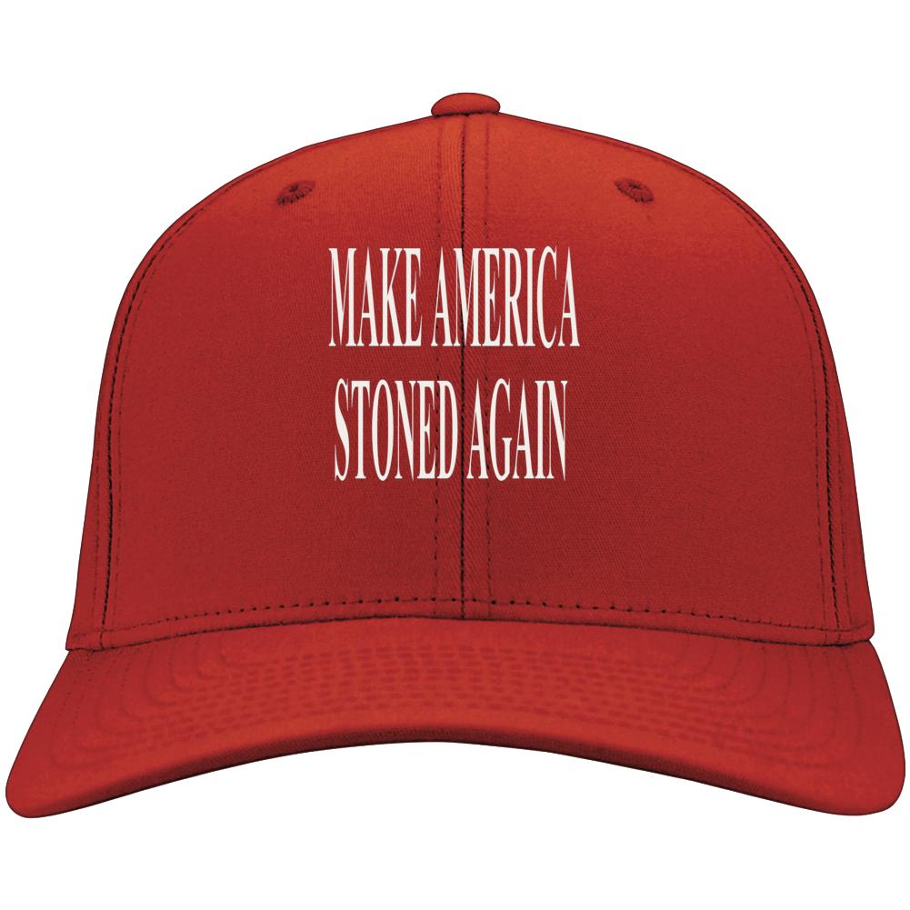 Make America Stoned Again MAGA KAG Parody Stoner Weed  Hat