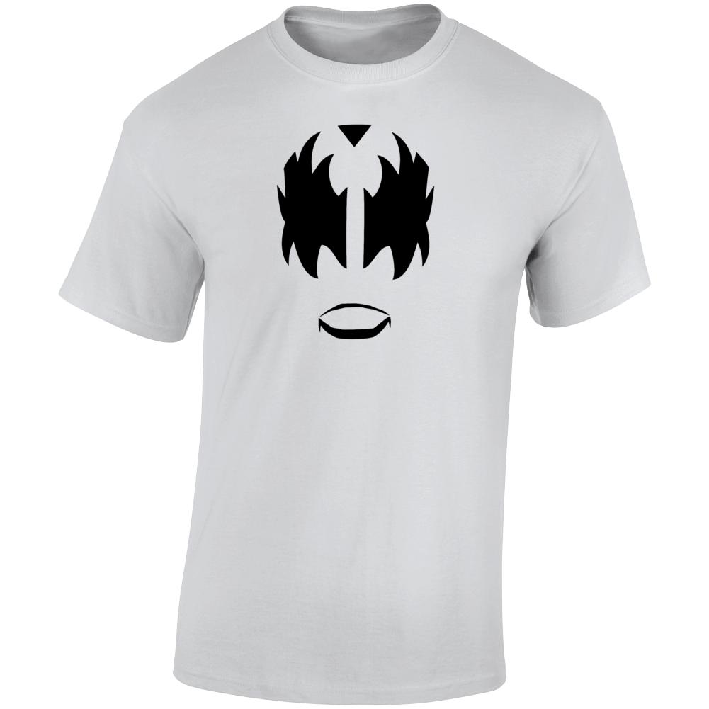 Devil Face Retro Rock Band Simmons  T Shirt