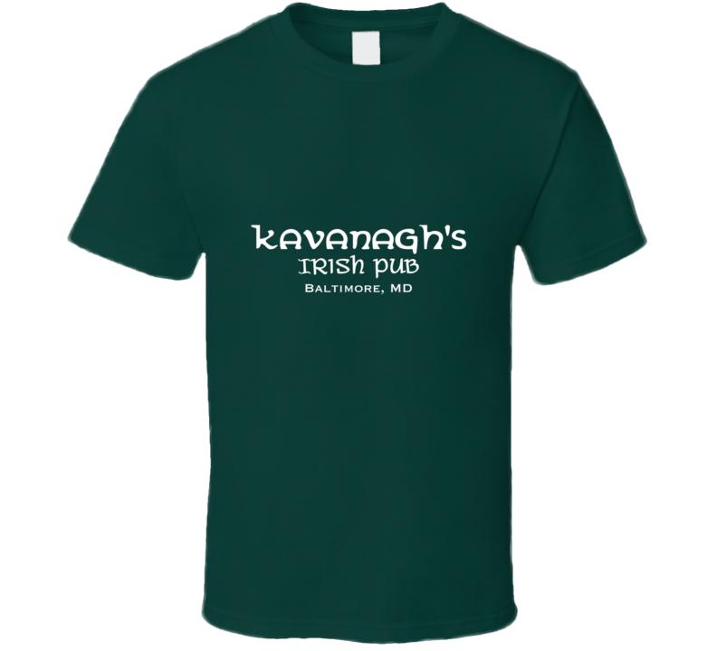Irish Pub The Wire Kavanagh's Irish Pub Tv Bar T-shirts Tv Inspired T-shirts Cool T Shirt