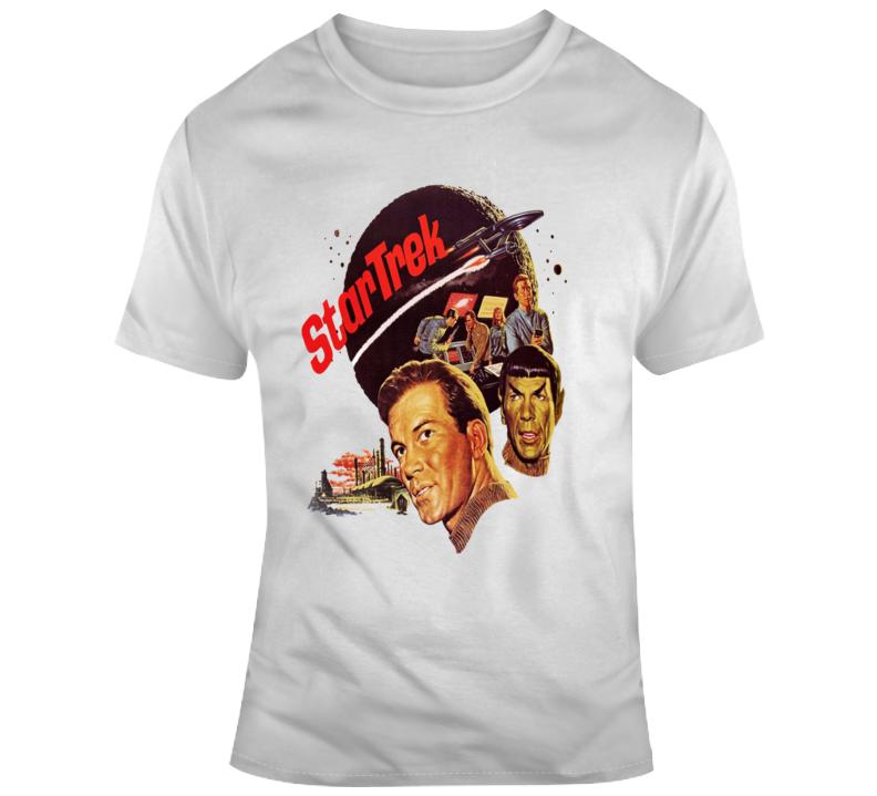 Star Trek Original Series Kirk Spock Nbc Promo  Retro T Shirt