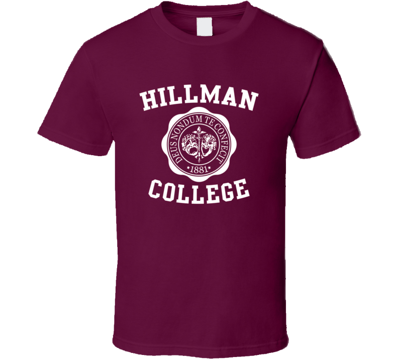 Hillman College t-shirt A Different World The Cosby show spin off retro TV shirts