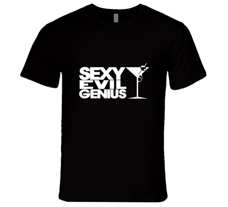 Sexy Evil Genius t-shirt COOL club rave DJ swag