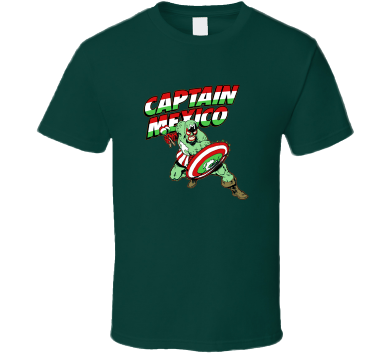 Captain Mexico t-shirt Funny super hero inspired Mexican wrestling funny shirts