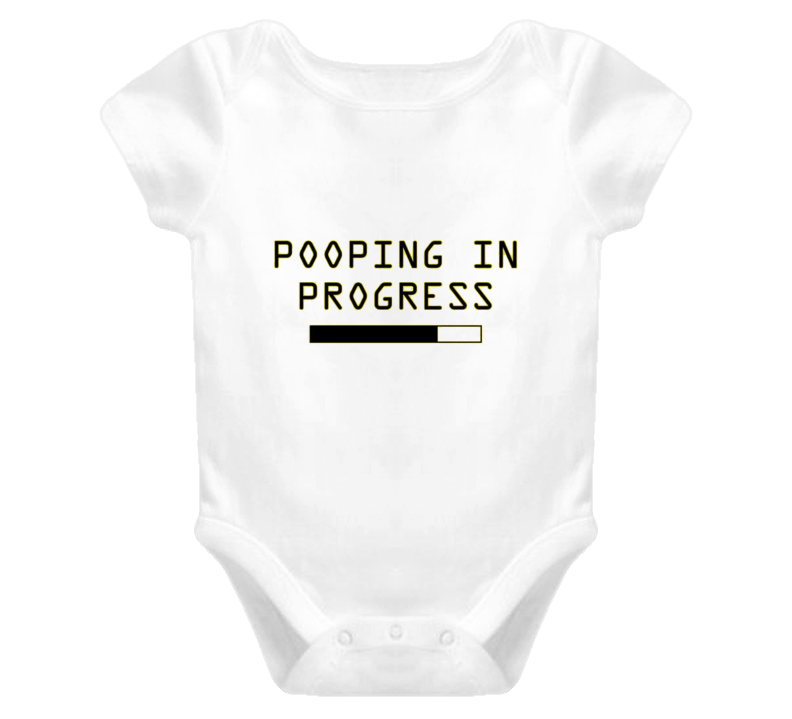 Pooping in Progress Baby one piece t-shirt onezie FUNNY