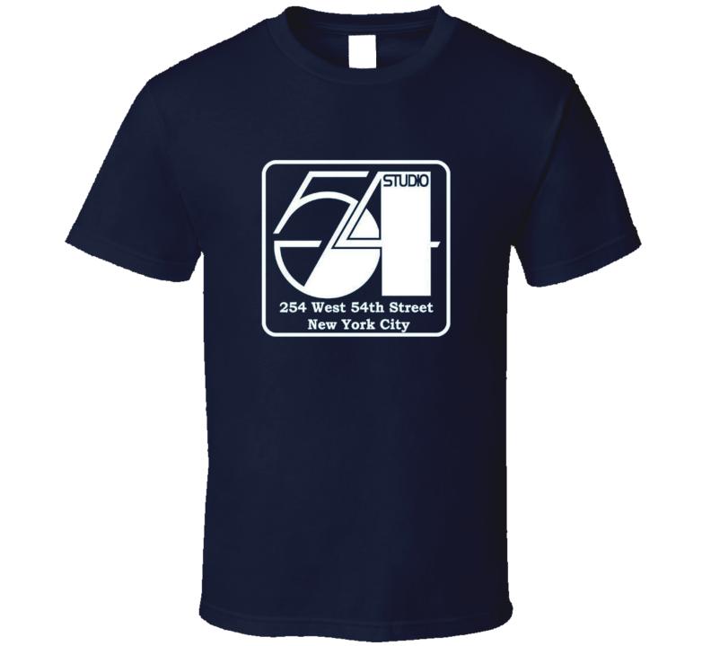 Studio 54 logo t-shirt retro famous disco NYC
