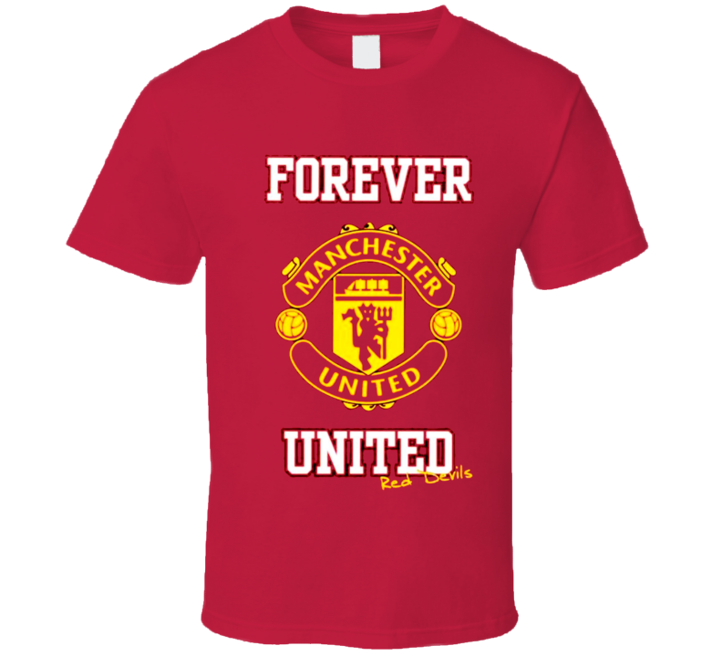 Manchester United Football t-shirt Forever United Red Devils Soccer shirts