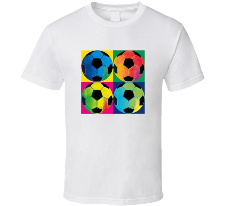 Soccer Ball t-shirt Art Print style Warhol colour inspired shirts