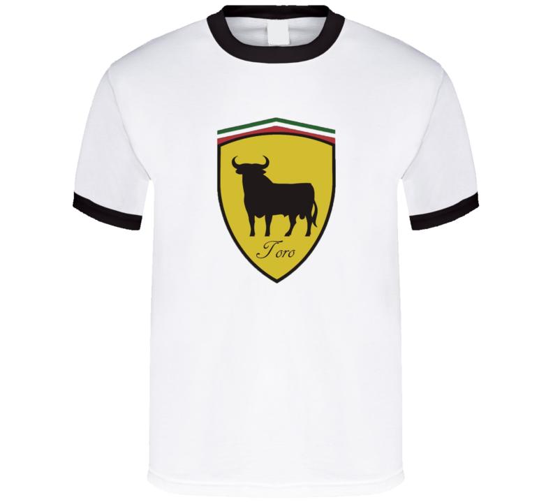 Toro t-shirt Ferrari Lamborghini inspired Crest Italian sports cars super cars shirts