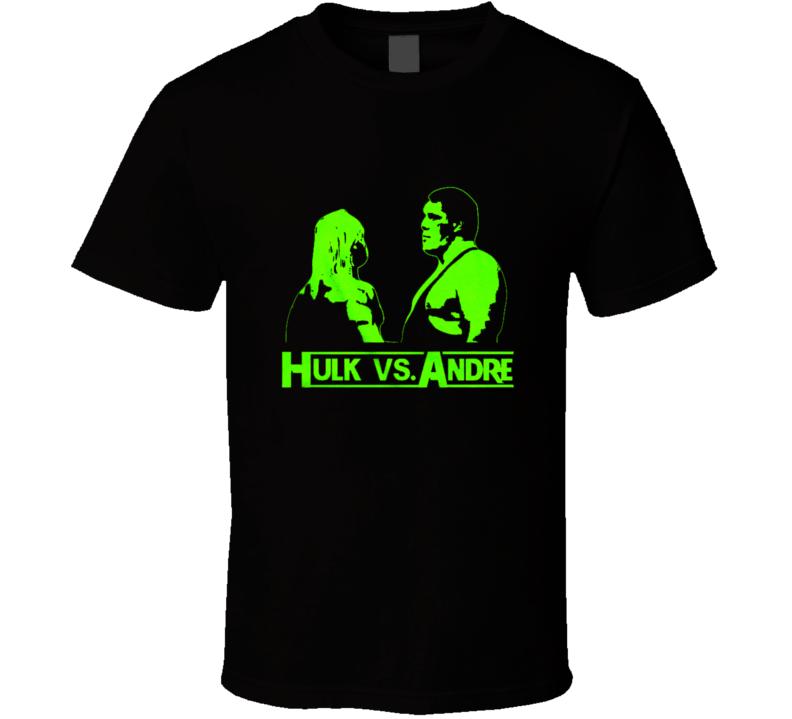 Classic Wrestling Hulk vs Andre stare down   T Shirt