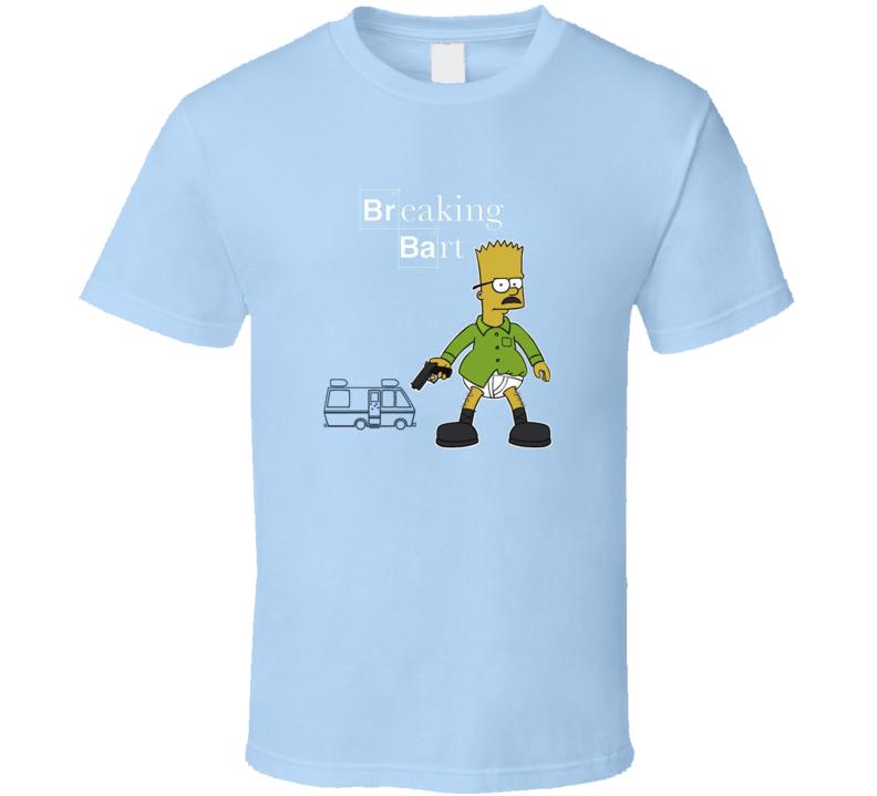Breaking Bart t-shirt BArt Simpson Walter White Breaking Bad inspired FUNNY Bart as Walter COOL tv shirts
