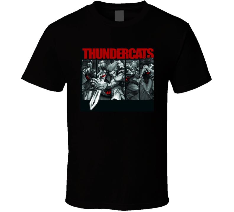 Thunder Cats collage t-shirt COOL retro tv cartoon shirts