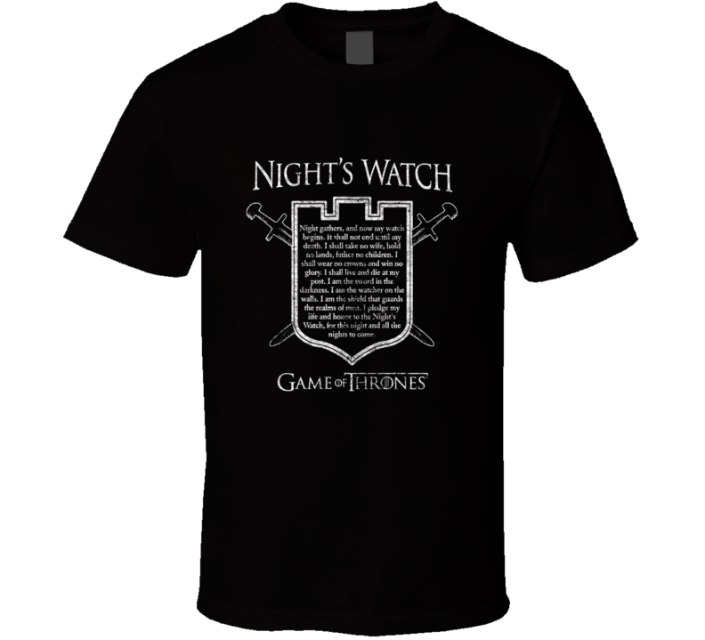 Night's Watch Oath t-shirt Game of Thrones GoT specialty shirts COOL