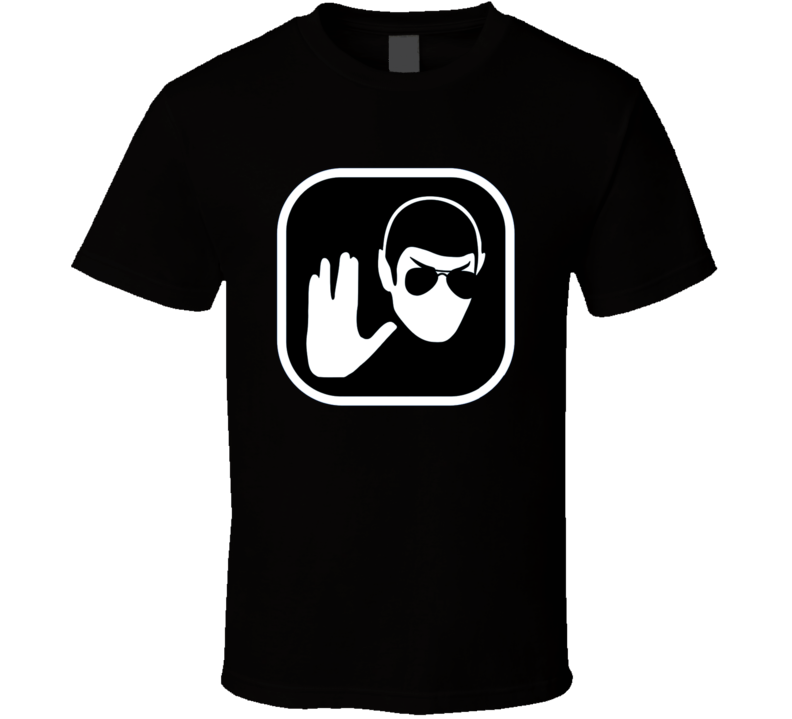 Star Trek Mr. Spock t-shirt Cool Mr. Spock Hipster with sunglasses Live Long cool retro TV shirts