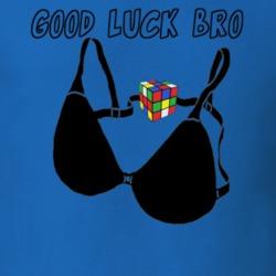 e46195f8f2c5a 23296173 Good Luck Bro bra and rubik s cube clasp college bar rave dj swag  ...
