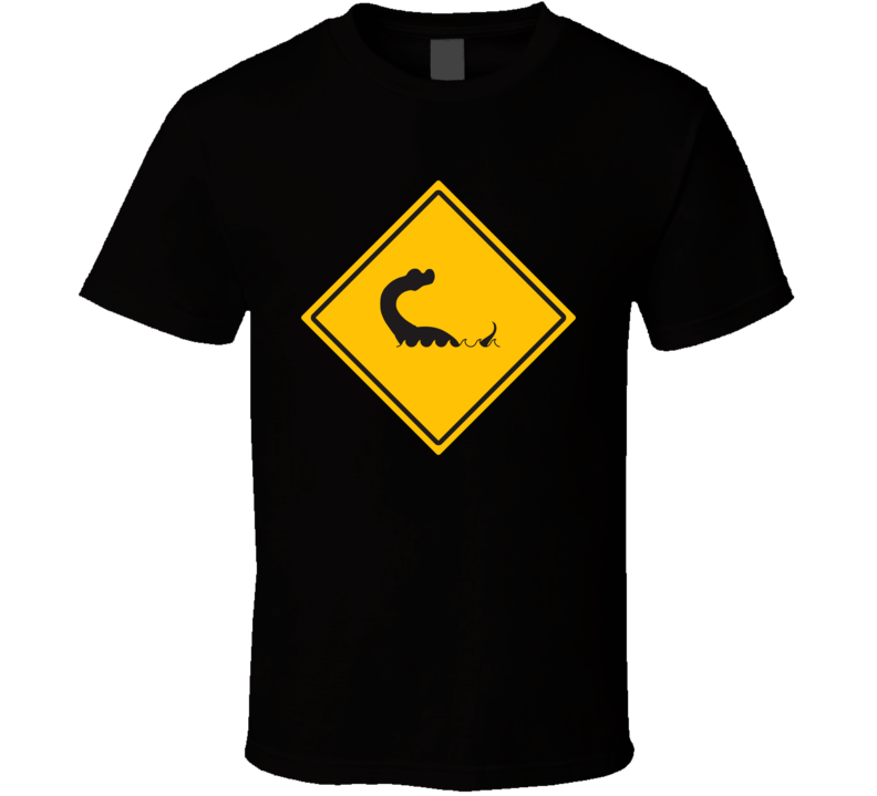 Lake Norman Monster Crossing Sign T Shirt