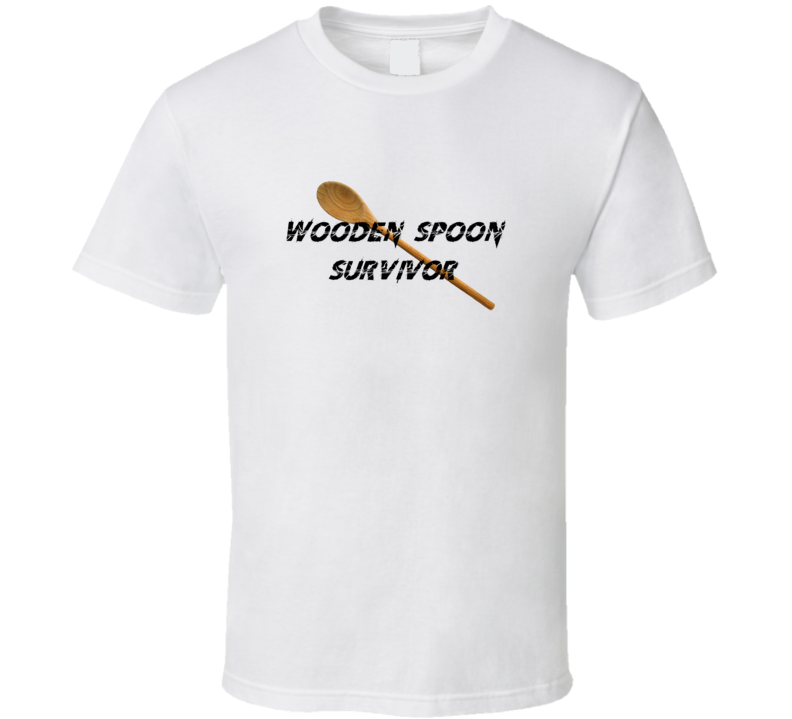 Wooden Spoon Survivor Funny Joke Hit Old School T Shirt